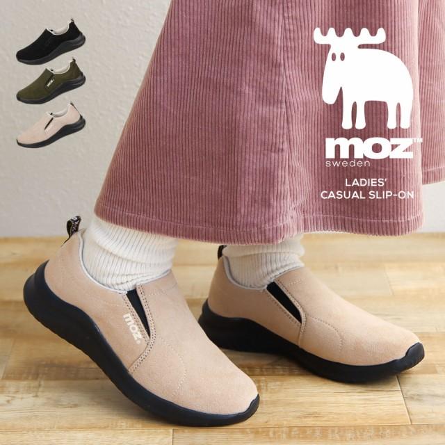 モズ moz スリッポン レディース 冬 軽量 靴 歩き...