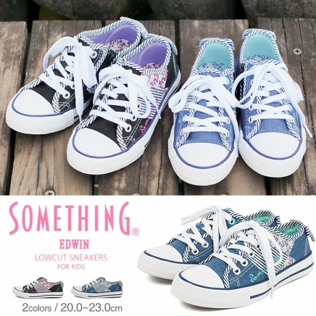 【送料無料】SOMETHING EDWIN 子供靴 スニーカー ...