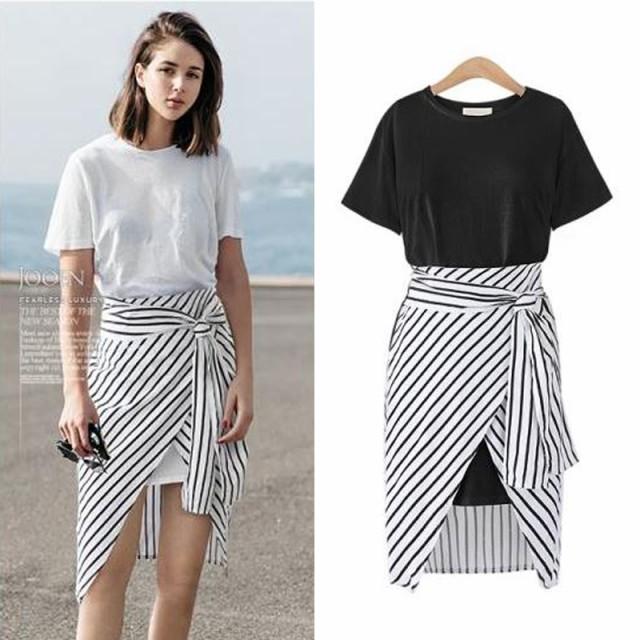 【取り寄せ】【Tシャツ&スカート】半袖 ラウンド...