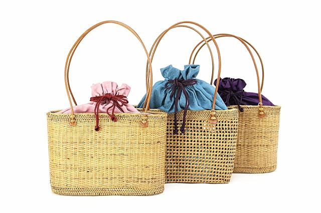 【アタバック】浴衣用 かごバッグ 籠 カゴ 女性用 女物 巾着 きんちゃく バッグ ゆかた 花火大会 お祭り 和装小物