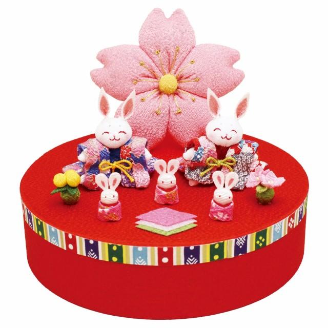 雛人形(ひな人形) 『うれしい桜兎(うさぎ)雛 ...