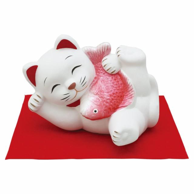 「特大 ゴロニャン 鯛 敷物付」素焼き陶製 猫...