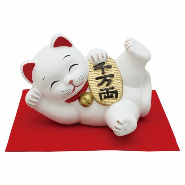 「特大 ゴロニャン 小判 敷物付」素焼き陶製 ...
