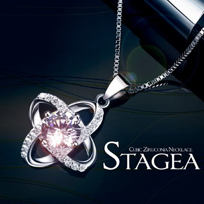 STAGEA CZW NECKLACE ステージアCZダブルネック...