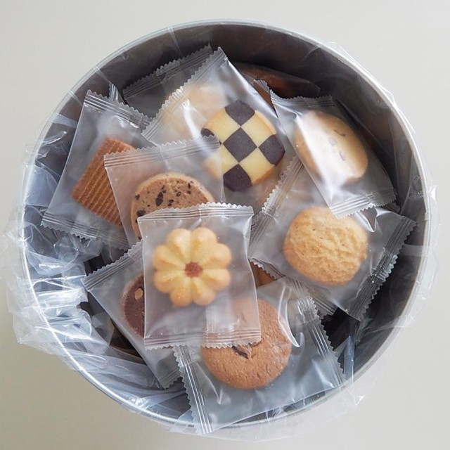 送料無料 同梱不可バケツ缶(クッキー) 個包装自...