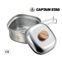 CAPTAIN STAG ステンレス角型ラーメンクッカー1...