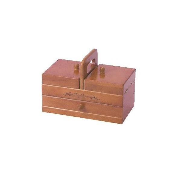 木製手芸裁縫箱 ソーイングボックス509 202-509...