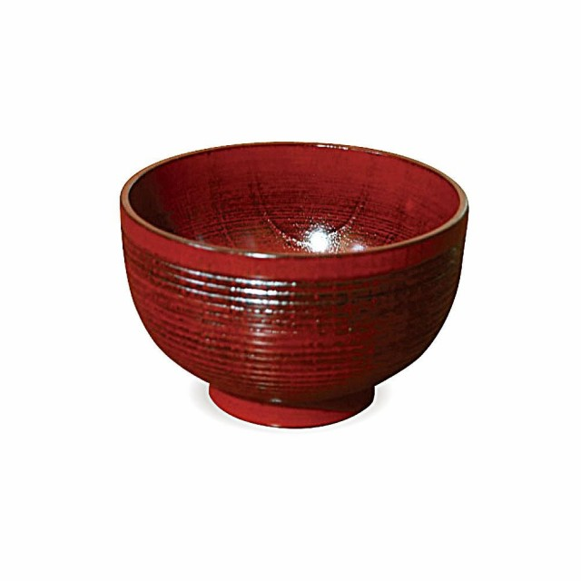かのりゅう 木製食器 千筋根来汁椀 JA17-5-21s...
