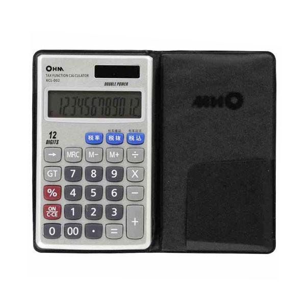 オーム電機 OHM 12桁手帳サイズ電卓 KCL-002