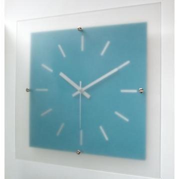 ミスティバークロック 電波時計 ブルー V-058