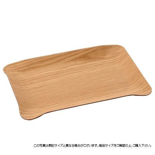 萬洋 木目樹脂サービストレイ(中)ナチュラル 93-2...
