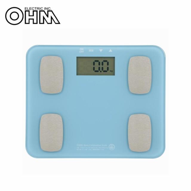 OHM 体重体組成計 ブルー HB-K126-A