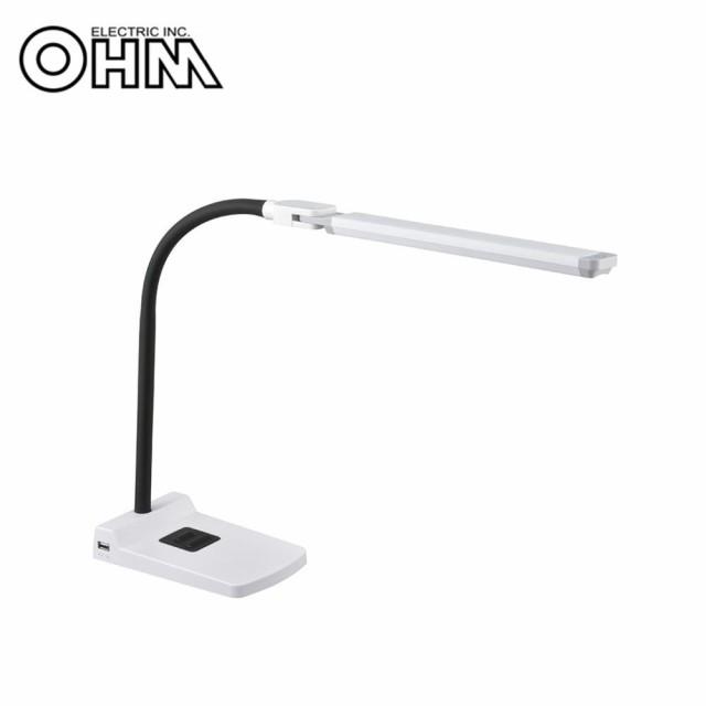 OHM LEDデスクランプ DS-LS36-W
