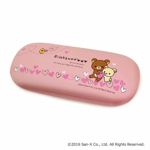 メガネケース リラックマ ハート ピンク 094009