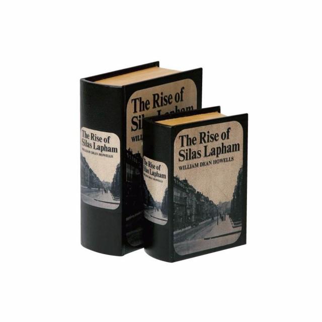 ブック型収納ボックス BOOK BOX 2個セット 28214