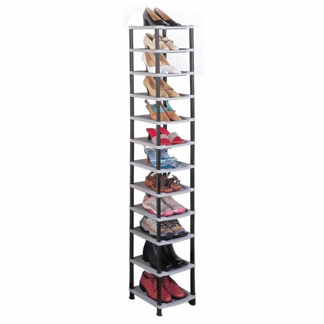 C 玄関 たて 靴箱 組立 12段 げた箱 靴 シンプル...