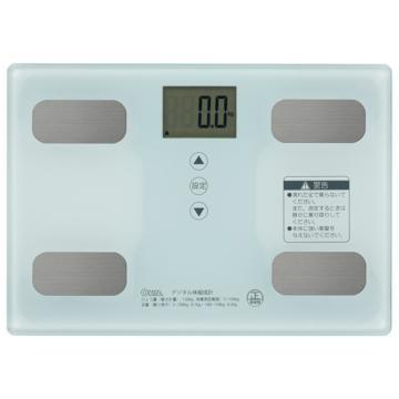 【送料無料】OHM 体重体組成計 ホワイト HB-KG11R...