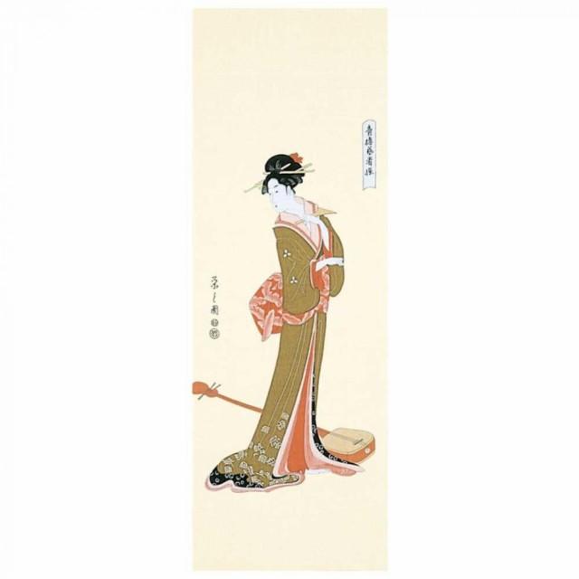 浮世絵 浮世絵手拭 芸者 29-061003