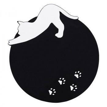 Abeille シリコンコースター 白猫 シルエット...