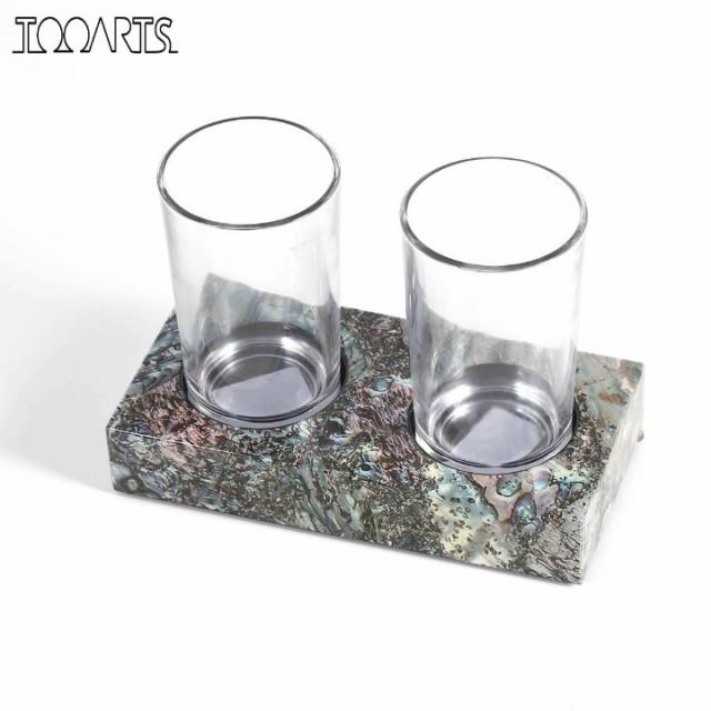 Tooarts  大理石風 木製 グラスホルダー/2タイプ...