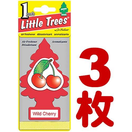送料無料!! LITTLE TREE ワイルド チェリー 3枚セ...