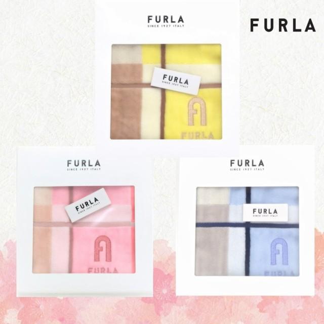 FURLA フルラ タオルハンカチ ロゴ箱入 ハンドタ...