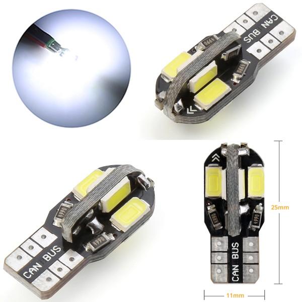 ウェッジ球 T10 T16 8SMD LED ライト ランプ ポジ...