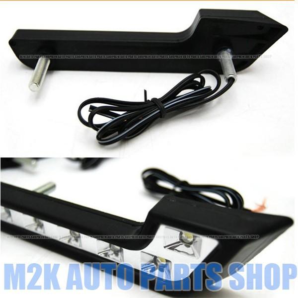 汎用 デイライト 6連 6LED 12v LED マーカー ユー...