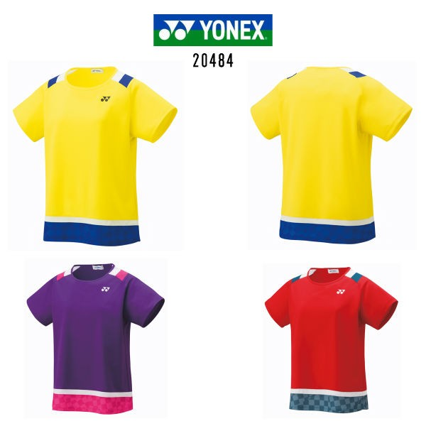 396e60a20dff84 ヨネックス レディース ゲームシャツ ライトイエロー パープル サンセットレッド M L O 20484