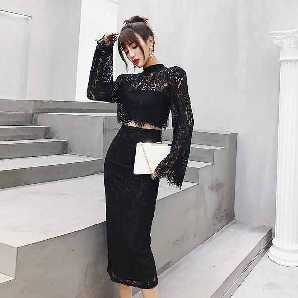 ドレス 通販 韓国 ワンピース 総レース 花柄 40代...