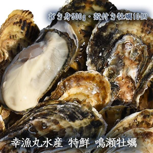幸漁丸水産 特鮮 鳴瀬牡蠣 むき身500g 殻付き牡蠣...