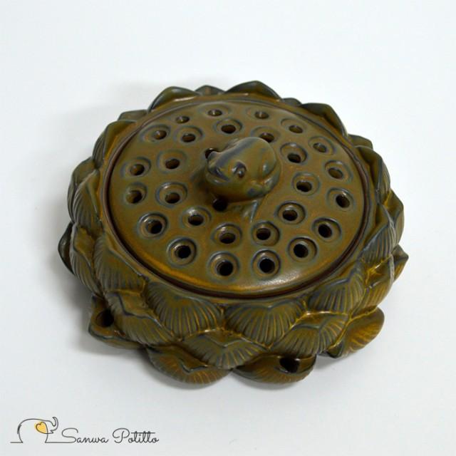 蓮の上の蛙 香炉 高さ6cm Y19032 カエル かえる ...