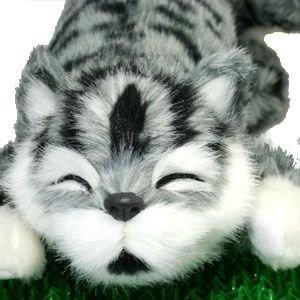 笑う猫ちゃん グレー 笑って転げて猫山さん ネ...