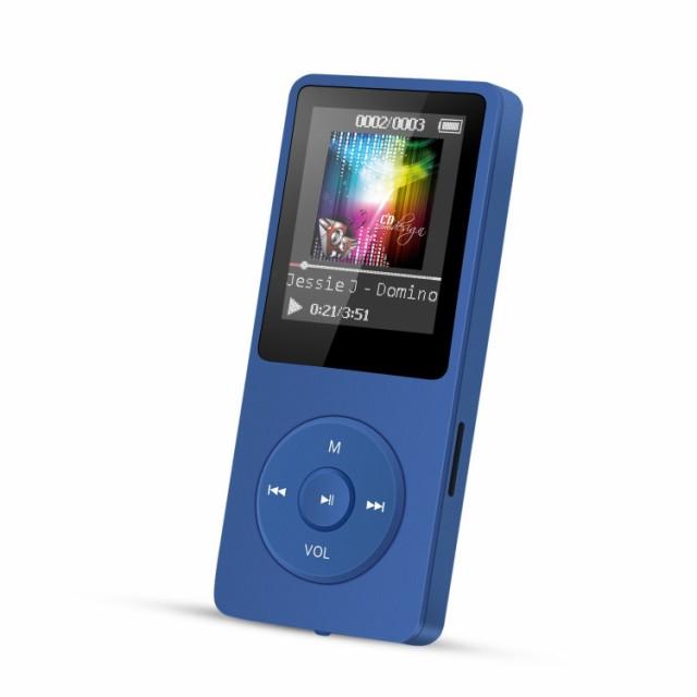 【送料無料】 ブルー MP3プレーヤー A02 容量8GB ...