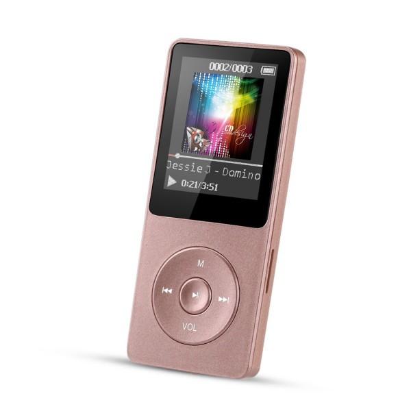 【送料無料】 ローズゴールド MP3プレーヤー A02 ...