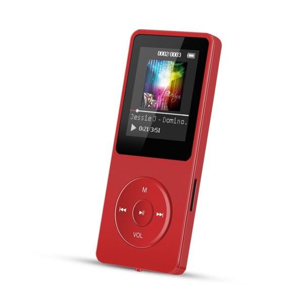 【送料無料】 レッド MP3プレーヤー A02 容量8GB ...