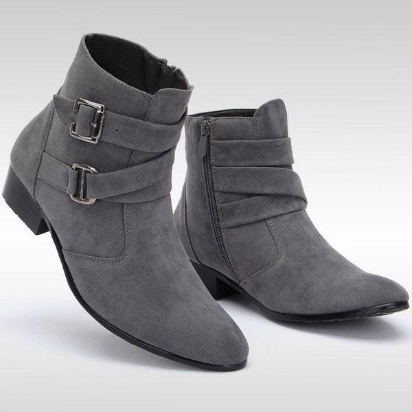 ショートブーツ メンズ シューズ スエード 靴 サ...