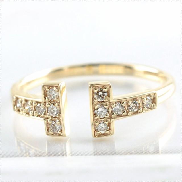 【送料無料】ダイヤモンド リング k18 指輪 ゴー...