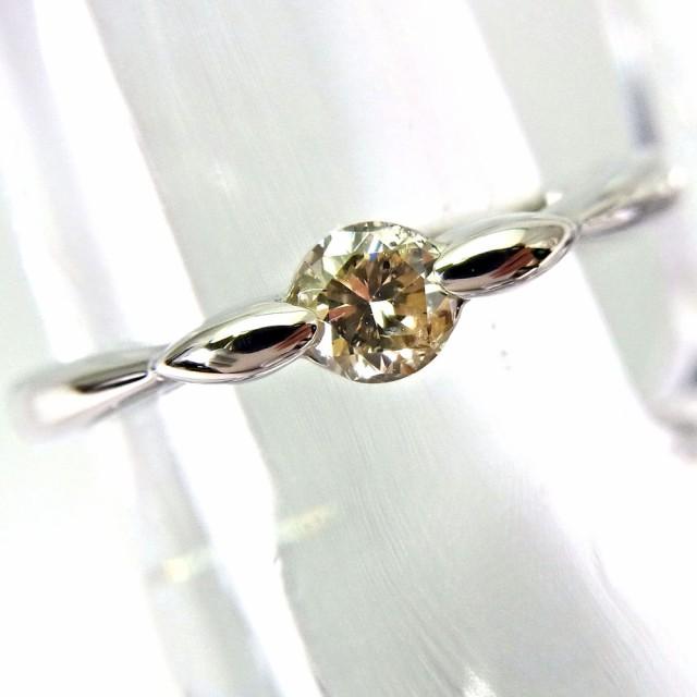 【中古】Pt900 ダイヤモンド リング 8.5号[f162-...