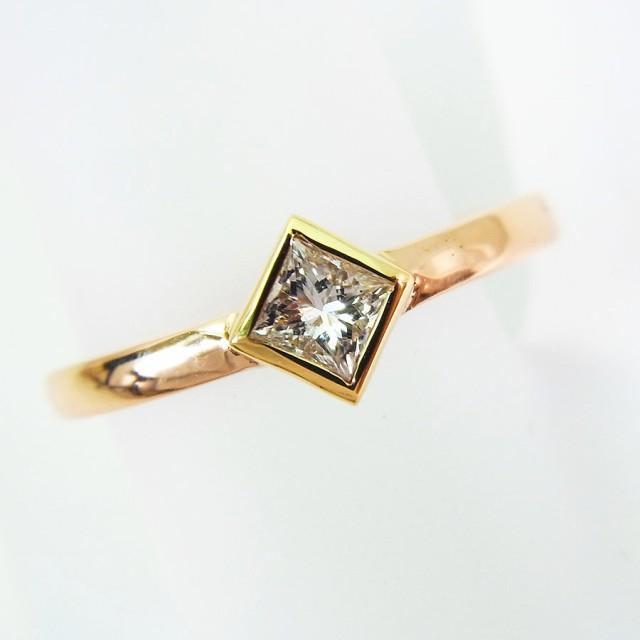 【中古】K18 ダイヤモンド リング 8号[f176-9]