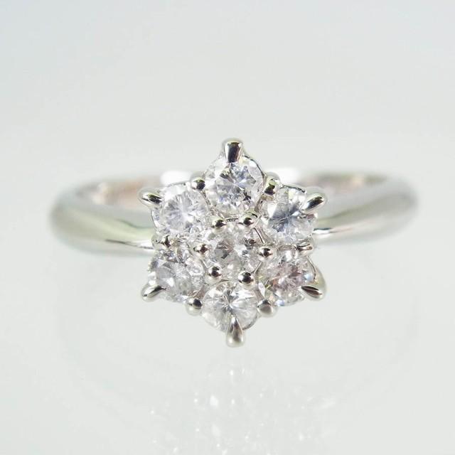 【中古】Pt900 ダイヤモンド リング 10号[f319-9...