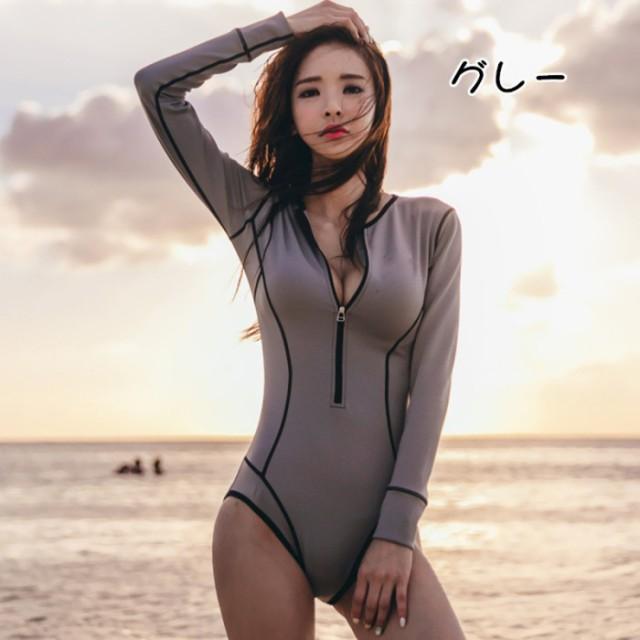 長袖UVカート タンキニ オールインワン 水着 カジ...