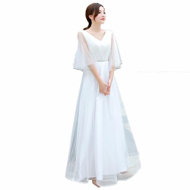 レディース Vネック  ロングドレス 大きいサイズ...