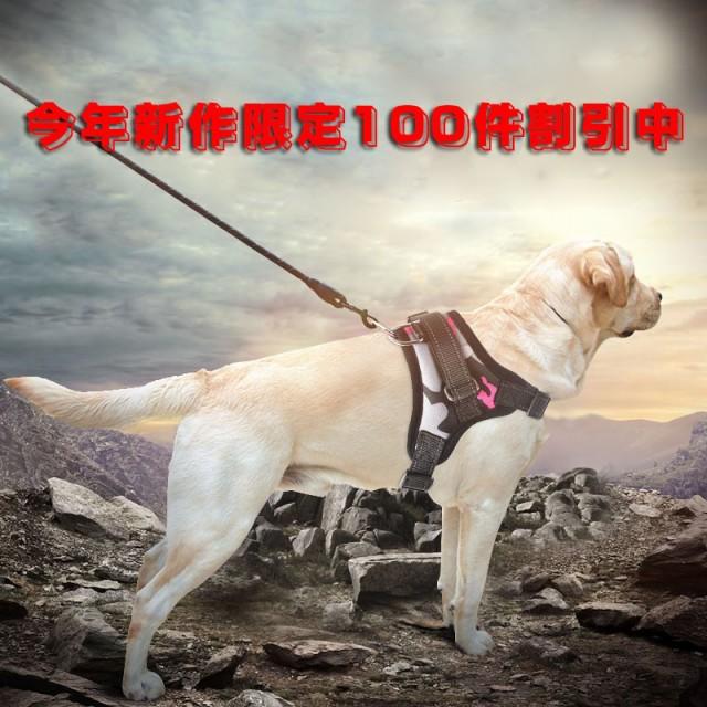 犬用ハーネスリード 犬ハーネスリードセット 中型...