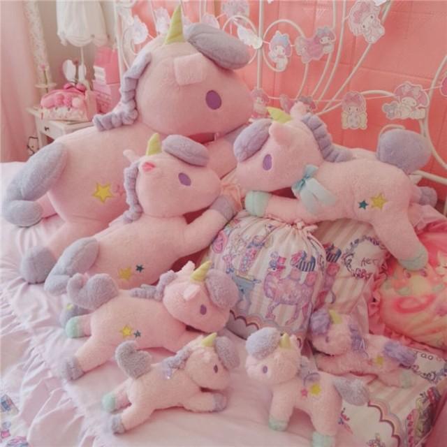 ぬいぐるみ ユニコーン かわいい おもちゃ 抱き枕...
