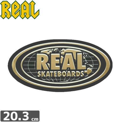 リアル REAL SKATEBOARD ステッカー BOLD WORLD O...