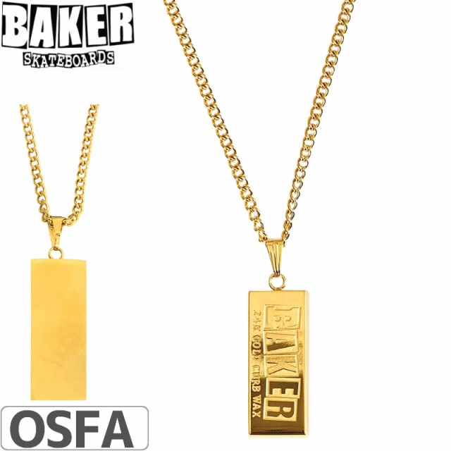 BAKER ベーカー ネックス CURB WAX GOLD NECKLACE...