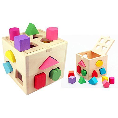 Itian パズルボックス 型はめ遊び 知育玩具 13ピ...
