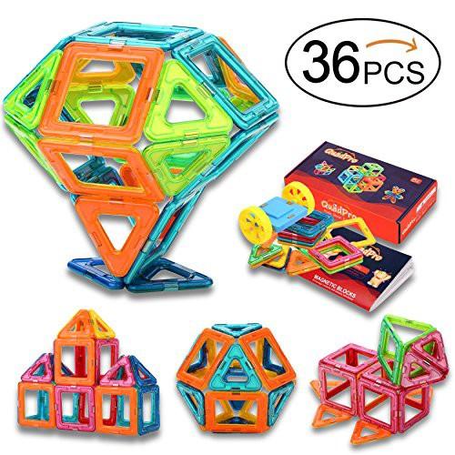 QuadPro 磁気おもちゃ 磁石ブロック キッズ 車輪...