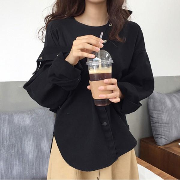 シャツジャケット カジュアル シンプル シャツ ジ...